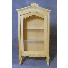 Bare Wood Display Cabinet