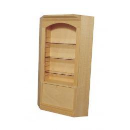 Bare Wood Deluxe Single Corner Shelf