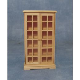 Bare Wood Book Cabinet