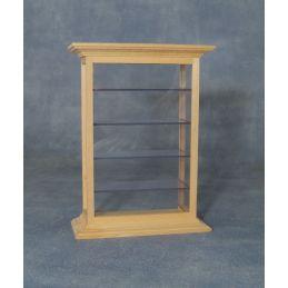 Bare Wood Shelf Display Cabinet