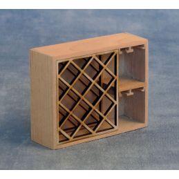 Bare Wood Wine Rack