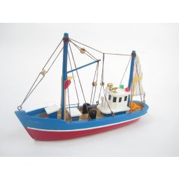 Blue Dolphin Starter Boat Kit  Build Your Own Wooden Model Fishing Boat