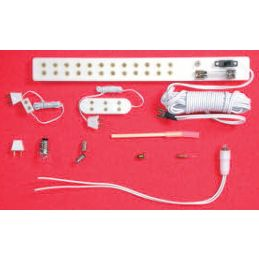 Dolls House 12volt Bulbs and Fittings - Triple Socket & Flex X 2