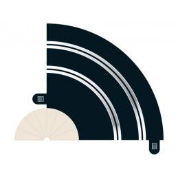 Radius 1 Hairpin Curve 90 x 2