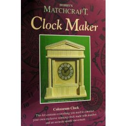 Matchcraft Colosseum Clock Maker Matchstick Kit