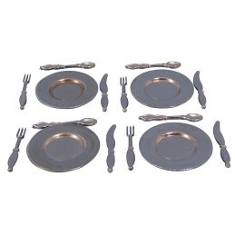 Place Metal Plate Cutlery Set x 4