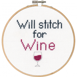 Cross Stitch - Stitch for Wine