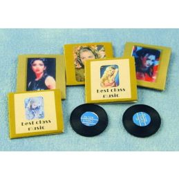 Old Fashioned Vinyl Records in Sleeves x 5