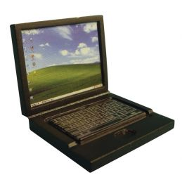 Detailed Black Laptop