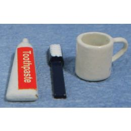 Toothbrush, Paste and Mug Set