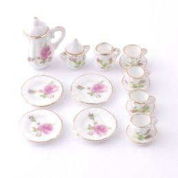 Pink Rose Coffee Set