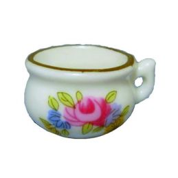 China Potty with Pink Flower Pattern