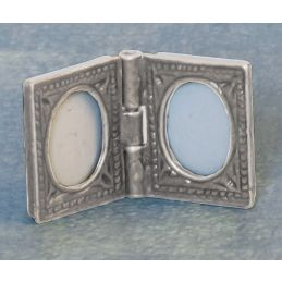 Photo Frame Antique Silver Finish 12th Scale for Dolls House