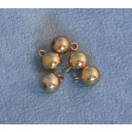 12th Scale Gold Baubles Pack of 5 for Dolls Houses
