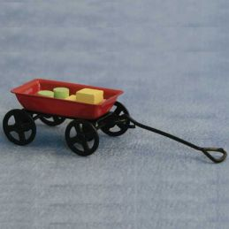 1:12 Scale Childs Trolley & Blocks Toy