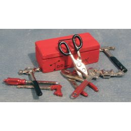 Red Tool Box and Tools