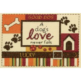Cross Stitch - A Dog's Love