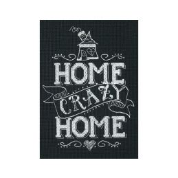 Cross Stitch - Home Crazy Home
