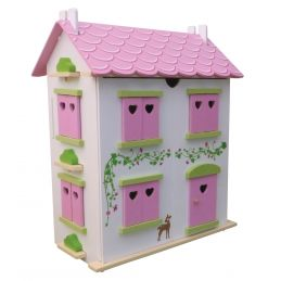 Candy Cottage Wooden Dolls House and Furniture