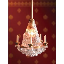 5 Candle Chandelier Light 12th scale for Dolls House