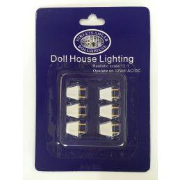 6 x Standard 12v Dolls House Lighting Plugs