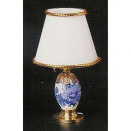 Blue and White 1:12th Scale Bedroom Table Lamp