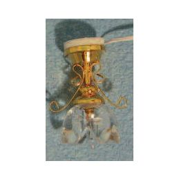Lily Ceiling Light Clear 1:12 Scale for Dolls House