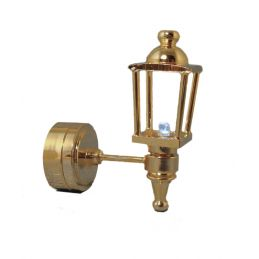 1:12th Scale Dolls House 3V LED Gold Coach Lamp