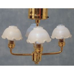 Ceiling Light with 4 Piecrust Shades 12th scale for Dolls House
