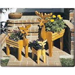 Deer Planter Trio Plans