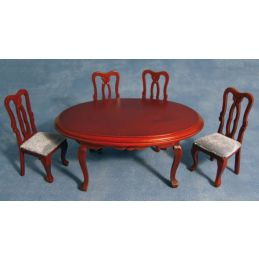 Oval Dining Table and 4 Chairs