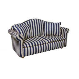 Blue Striped Sofa