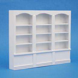 1:12 Scale Large Shop Shelves White