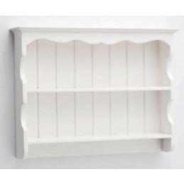 White Dresser Top Shelves 1 12 Scale for Dolls House