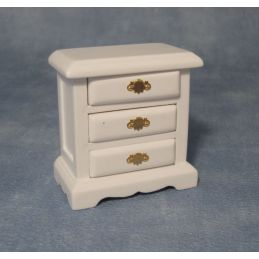 12th Scale White Bedside Drawers