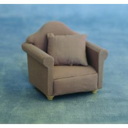 12th Scale Grey Armchair for Dolls House