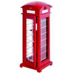 Traditional Red British Telephone Box 17cm x 6cm Phone box