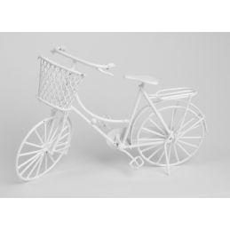 Miniature White Shopping Bike