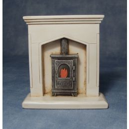 Fire Surround and Woodburner