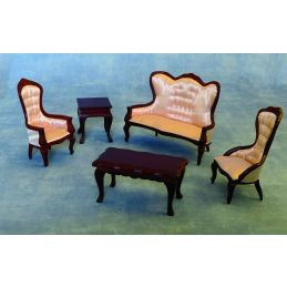 Mahogany Regency Room Suite 12th Scale for Dolls Houses