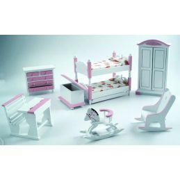 Pink and White Nursery Set