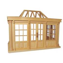 Deluxe Conservatory Unpainted 1:12 Scale for Dolls House