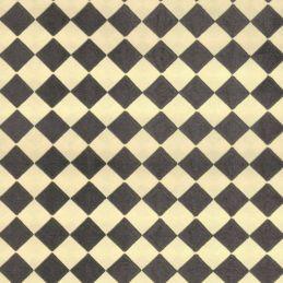 Black & Cream Lino Effect Paper