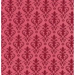 Victorian Red Wallpaper 297mm x 420mm for Dolls House