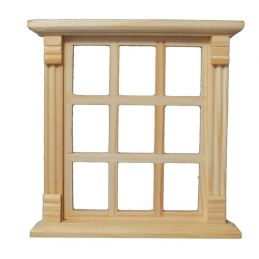 9 Pane Window White 12th Scale for Dolls House