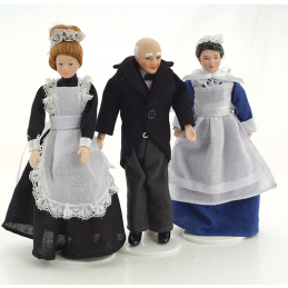 12th Scale Porcelain Poseable Servants