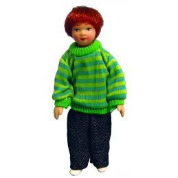 1/12th Scale Dolls House Porcelain Boy In Sweater