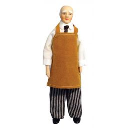 Shop Keeper Porcelain Figurine 1 12 Scale for Dolls House