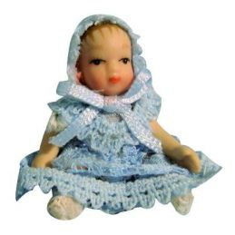 1/12th Scale Dolls House Porcelain Tiny Baby Boy
