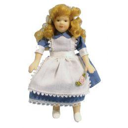 12th Scale Girl in Alice Dress